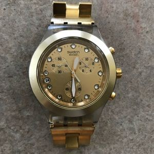 Swatch Gold Tone Watch